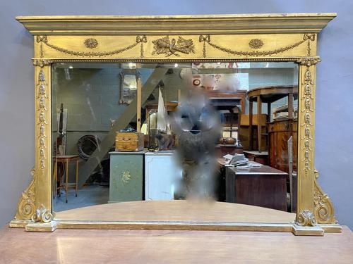 19th Century Gilt Overmantle Mirror (1 of 5)