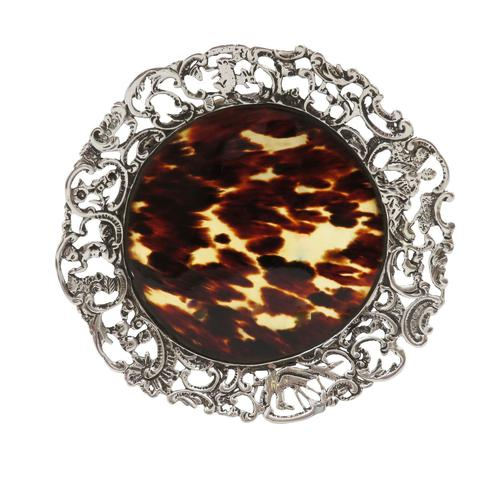 Antique Victorian Sterling Silver & Tortoiseshell Tray / Dish 1888 (1 of 9)