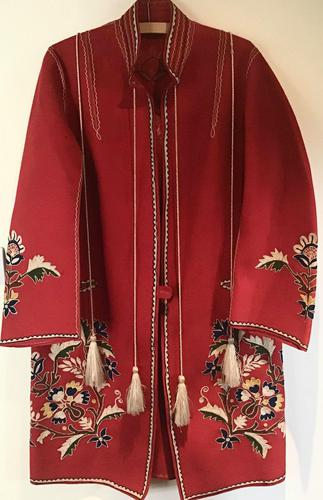 Very Unusual Vintage Felt Coat  Decorated with Embroidery Possibly Turkish or Greek (1 of 7)