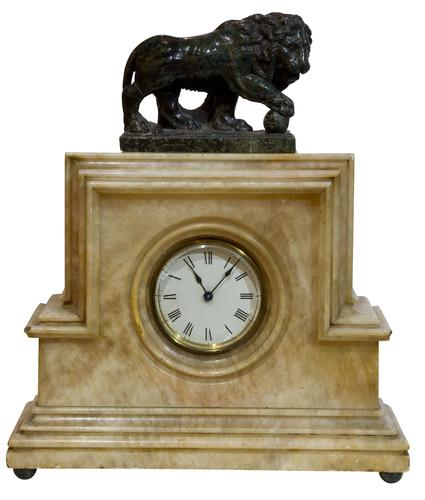 Art Deco Clock with Borghese Lion (1 of 5)