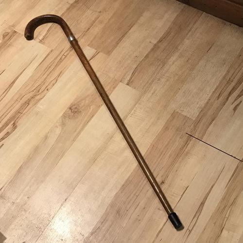 Gentleman's Walking Stick Sword Stick with Silver Collar Hallmarked (1 of 8)