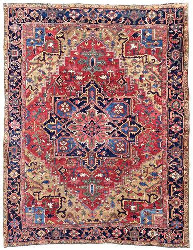 Antique Heriz Carpet 3.20m x 2.37m (1 of 10)