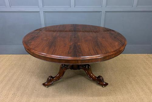 Victorian Round Rosewood Loo Table (1 of 17)