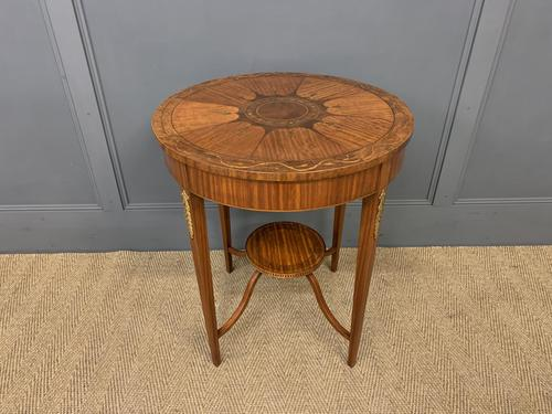 Edwardian Inlaid Satinwood Occasional Table c.1900 (1 of 10)
