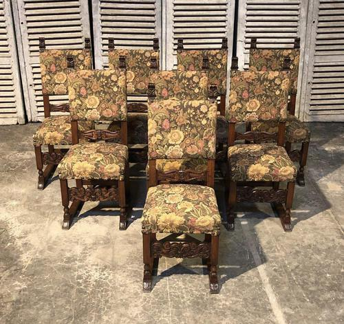 Set of 8 French Oak Dining Chairs (1 of 18)