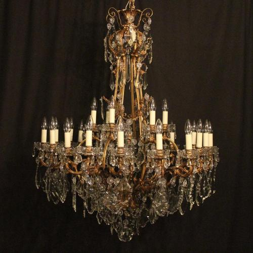 French 19th Century Bronze 24 Light Antique Chandelier (1 of 11)