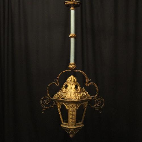Italian Florentine Giltwood 19th Century Antique Lantern (1 of 10)