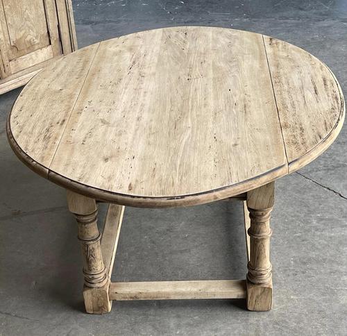 Bleached Oak Drop Flap Coffee Table (1 of 17)