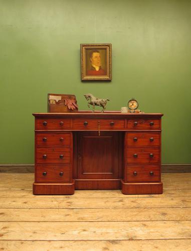 Victorian Antique Pedestal Desk, Hobbs & Co London (1 of 24)