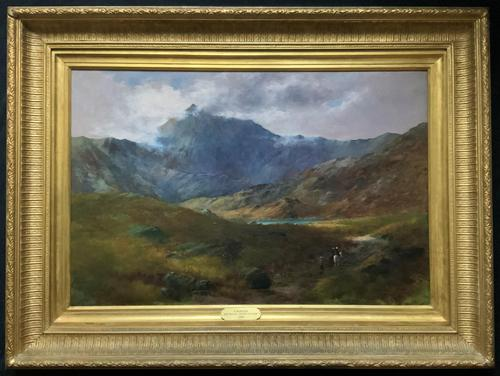 (2of2) Huge Magnificent 19thc Snowdonia Mountain Welsh Landscape Oil Painting (1 of 13)