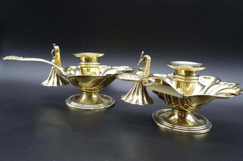 Charming Pair of Mid 19th Century Brass Chambersticks (1 of 9)