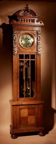 Impressive Black Forest Oak Grunderzeit Longcase Clock c.1910 (1 of 13)