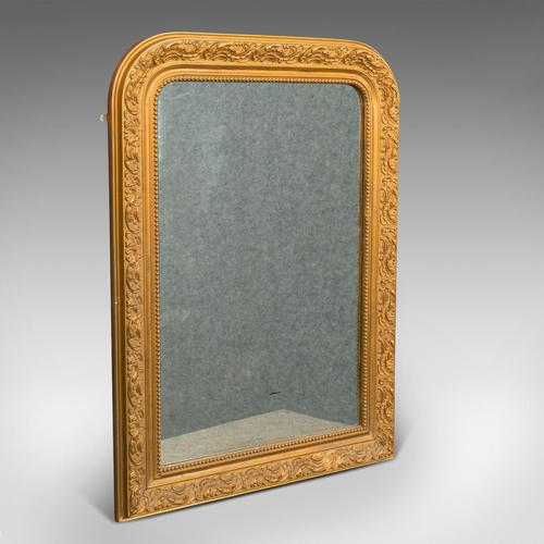 Antique Wall Mirror, English, Gilt Gesso, Neo Classical Revival, Victorian, 1900 (1 of 8)