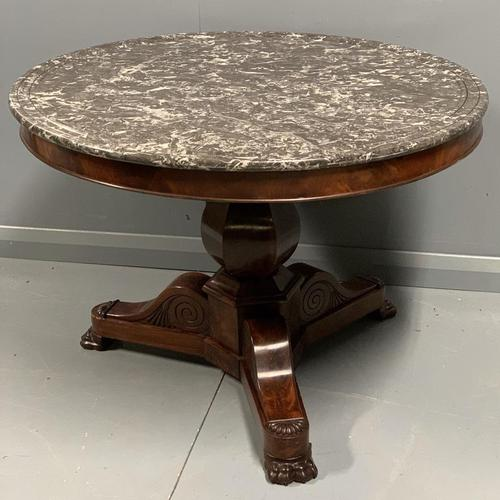 French Empire Gueridon Centre Table with Marble Top (1 of 7)