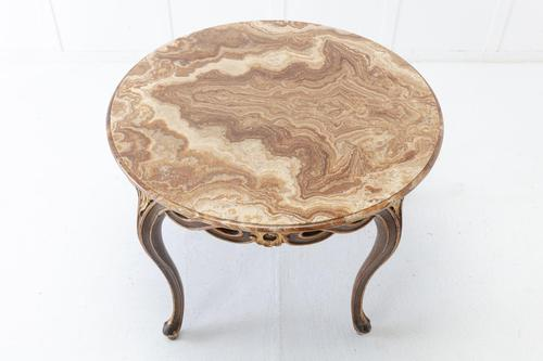 1940s Italian Table with Onyx Top (1 of 6)