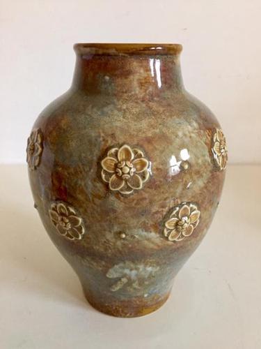 Royal Doulton Stoneware Vase by Maud Bowden, Art Nouveau (1 of 9)