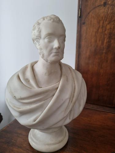 Carved Marble Portrait Bust of Gentleman (1 of 3)