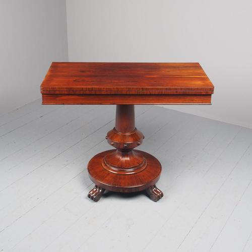 Antique William IV Rosewood Foldover Tea Table (1 of 12)