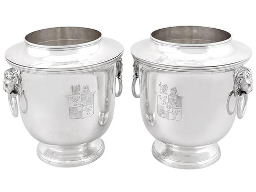 Sterling Silver Wine Coolers - Antique George III (1 of 15)