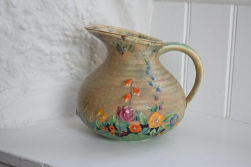 Art Deco Crown Devon Floral Jug (1 of 10)