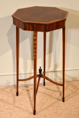 Edwardian Mahogany Painted Urn Stand (1 of 5)