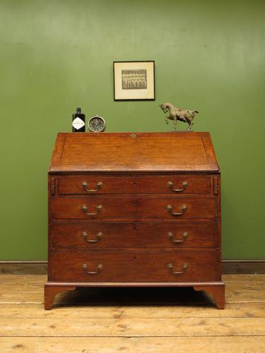 Antique George III Mahogany Writing Bureau Desk with Fall Front - Handsome Piece (1 of 16)