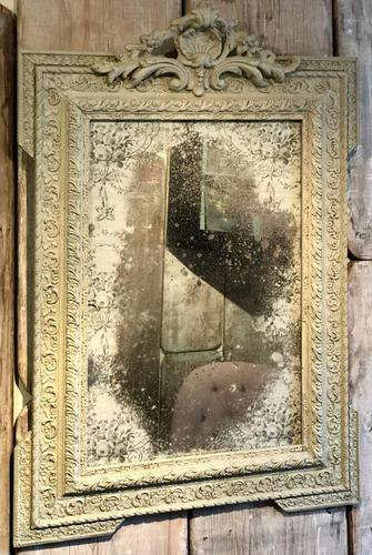 Antique French Crested Mirror (1 of 3)