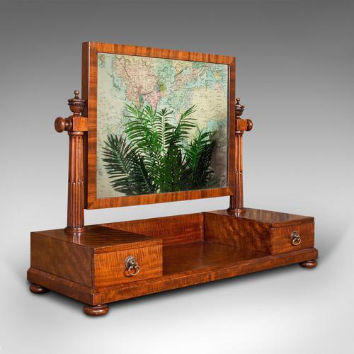 Antique Dressing Mirror, English, Mahogany, Boudoir, Pedestal Base, Victorian (1 of 12)
