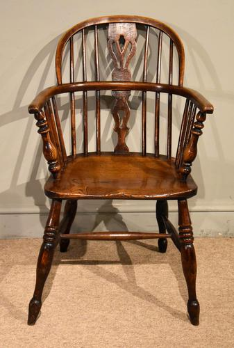 Ash & Elm Windsor Armchair with Low Back (1 of 6)