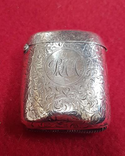 Large Sterling Silver Vesta Case (1 of 3)