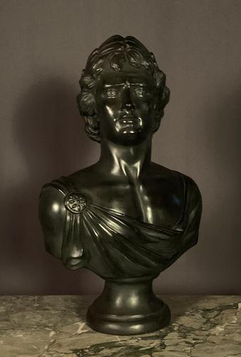 Large Bronzed Plaster Library Bust Appollo (1 of 9)