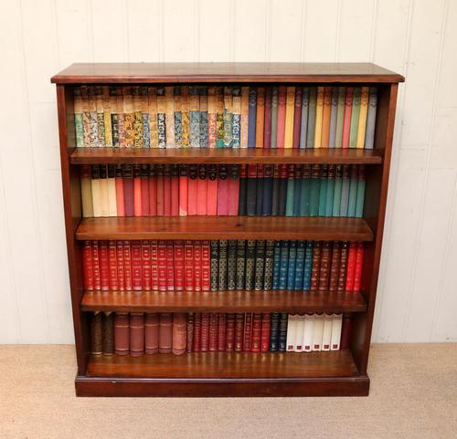 Edwardian Mahogany Open Bookcase c.1910 (1 of 11)