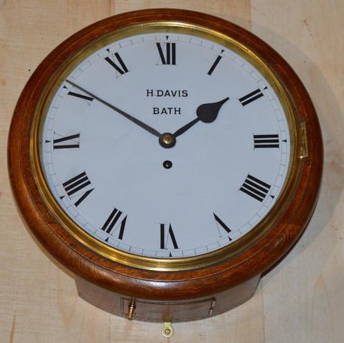 Henry Davis Bath Fusee Dial Wall clock (1 of 4)