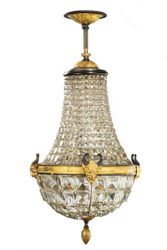 Late 19th Century Basket Chandelier (1 of 6)