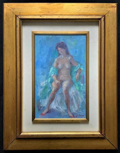 Original Vintage Antique Impressionist Erotica Nude Oil Portrait Painting (1 of 11)