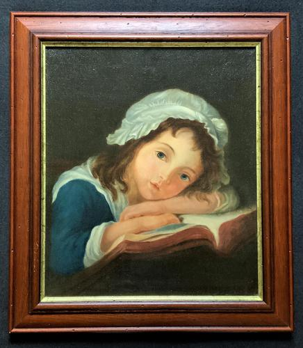 Enchanting Original 20thc English Sch Oil Portrait Painting Of A Victorian Child (1 of 8)