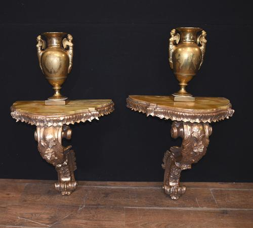 Antique French Console Tables - Gilt Louis XVI (1 of 10)