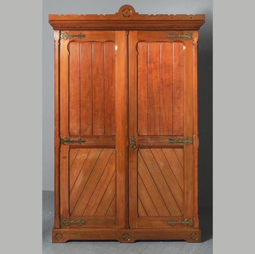 Gothic Style Victorian 2 Door Mahogany Wardrobe (1 of 5)