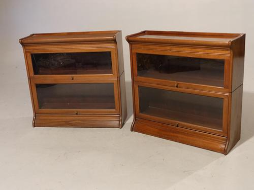 An Attractive Pair of Early 20th Century Sectional Bookcases (1 of 4)
