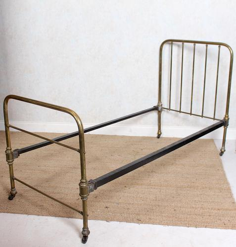 Brass Bed Frame Victorian 19th Century Single Bedframe Cast Iron (1 of 12)