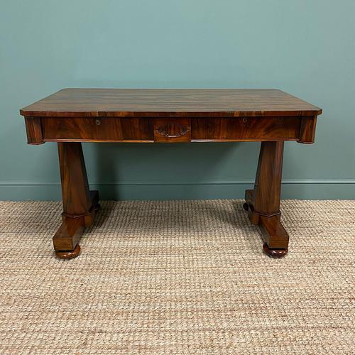 Beautiful Large Victorian Antique Rosewood Writing Table (1 of 6)