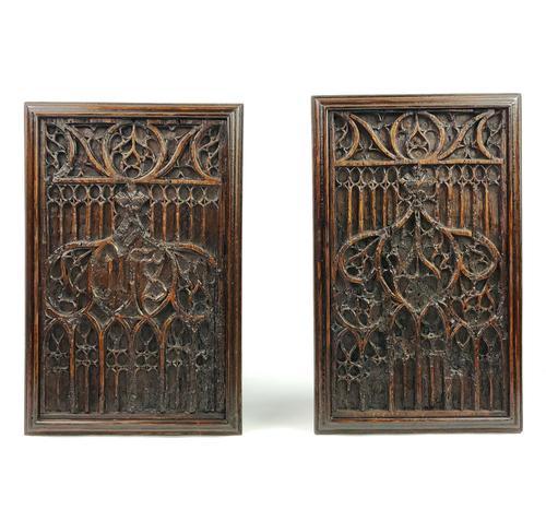 Pair of 16th Century Gothic Oak Panels (1 of 4)