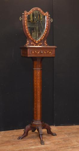 Antique Dutch Marquetry Vanity Hat Stand - Mirror (1 of 19)