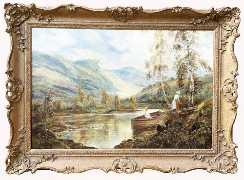 Scottish Loch, Signed: Theodore Hines (1 of 5)