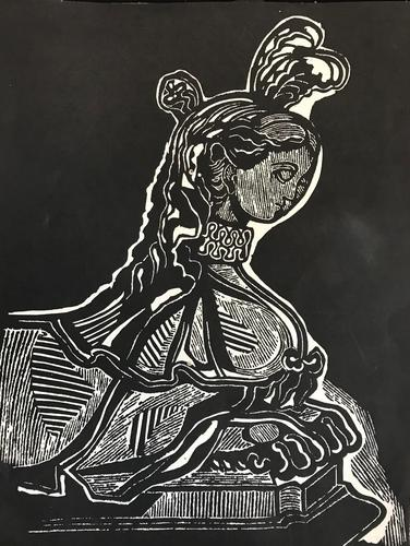Original Lithograph by Edward Bawden 1903-89. Published in Motif Magazine in the early 60's. (1 of 1)