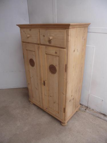 Quality Victorian Antique Pine Kitchen Storage Cupboard to wax / paint (1 of 12)