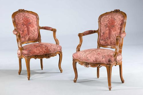 Pair of Louis XV Period Fauteuils (1 of 5)