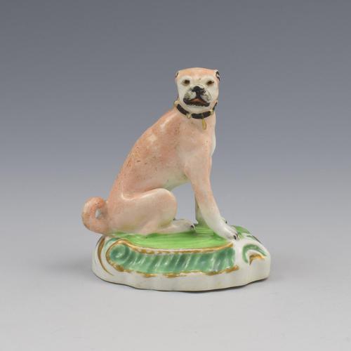 Staffordshire Porcelain Figure Of A Seated Pug Dog c.1830 (1 of 8)