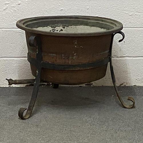 Antique Copper Cauldron (1 of 3)