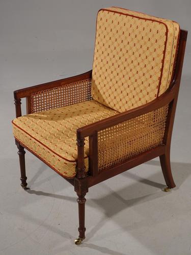 Very Good and Original Regency Period Bergère Armchair (1 of 6)